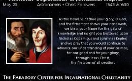 May 23 – Copernicus &Kepler