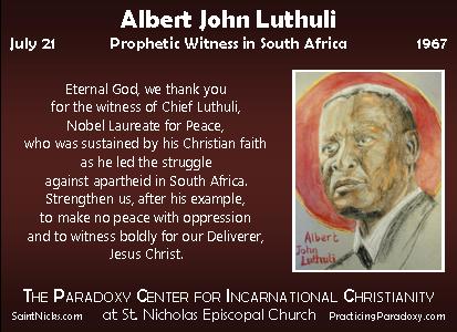 Albert John Luthuli | Holy Women, Holy Men