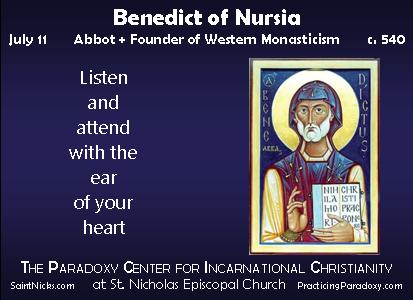 Illumination - Benedict of Nursia