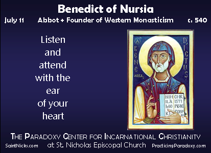 Illumination - Benedict of Nursia