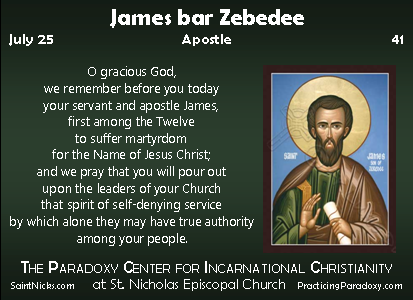 Illumination - James bar Zebedee, Apostle