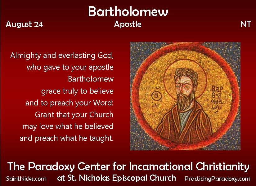 Aug 24 - Saint Bartholomew