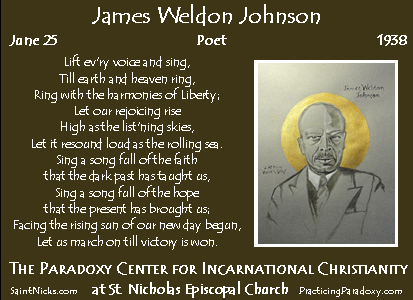 June 25 - James Weldon Johnson