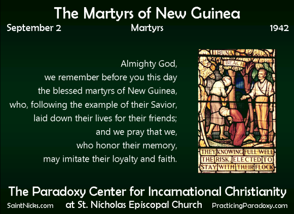 Sep 2 - Martyrs of New Guinea