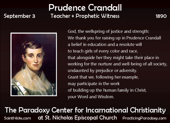 Sep 3 - Prudence Crandall