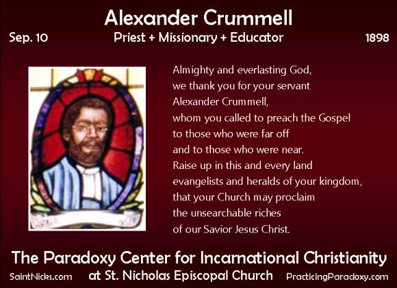 Sep 10 - Alexander Crummell