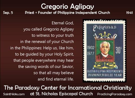 Sep 5 - Gregorio Aglipay
