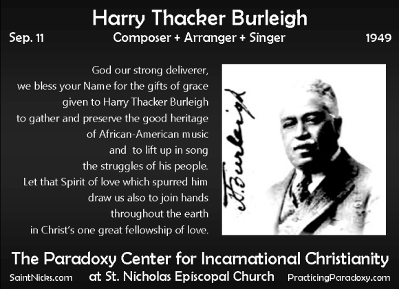 Sep 11 - Harry Thacker Burleigh