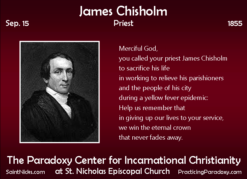 Sep 15 - James Chisholm
