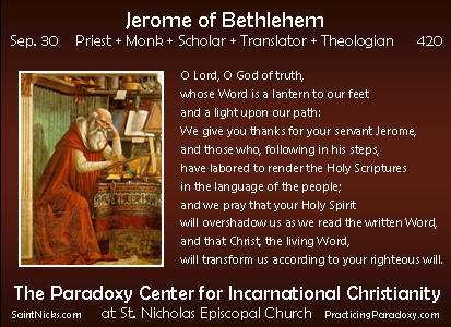 Sep 30 - Jerome of Bethlehem