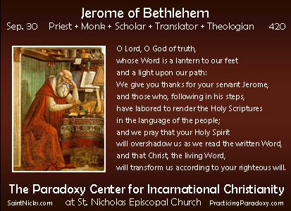 Sep 30 - Jerome of Bethlehem