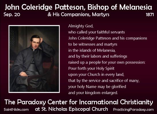 Sep 20. - Patteson & Companions