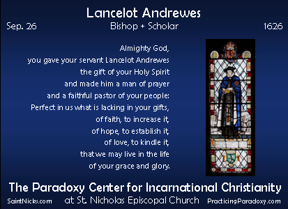 Sep 26 - Lancelot Andrewes