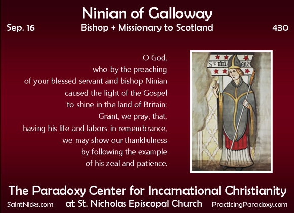 Sep 16 - Ninian of Galloway