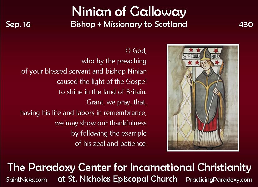 Sep 16 - Ninian of Galloway