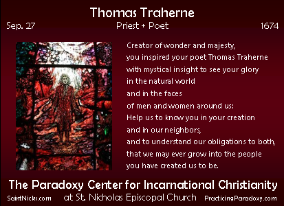 Sep 27 - Thomas Traherne