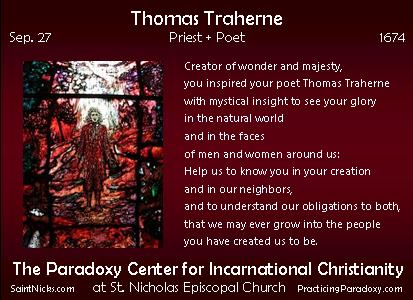 Sep 27 - Thomas Traherne