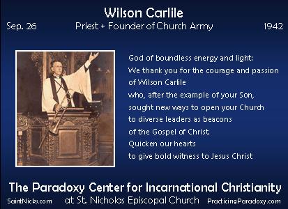 Sep 26 - Wilson Carlile
