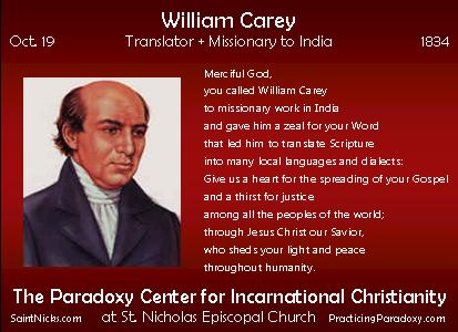 Oct 19 - William Carey