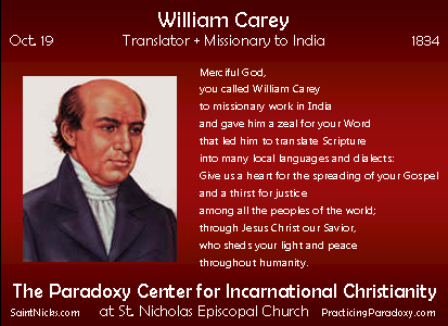 Oct 19 - William Carey