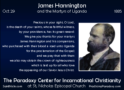 Oct 29 - James Hannington & Companions