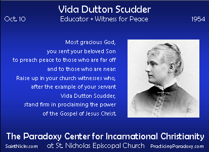 Oct 10 - Vida Dutton Scudder