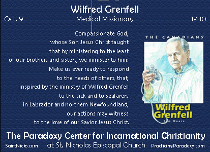 Oct 9 - WIlfred Grenfell