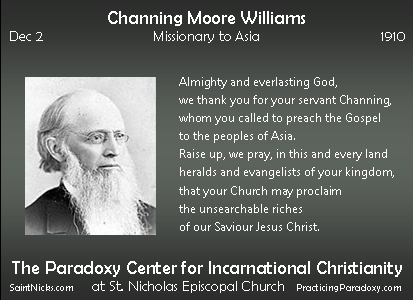 Dec 2 - Channing Moore Williams