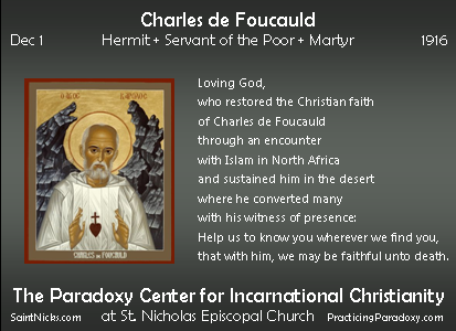 Dec 1 - Charles de Foucauld