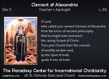 Dec 5 - Clement of Alexandria