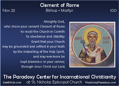 Nov 23 - Clement of Rome