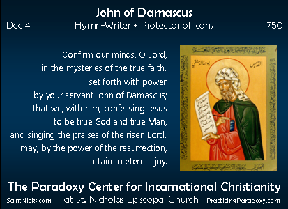 Dec 4 - John of Damascus
