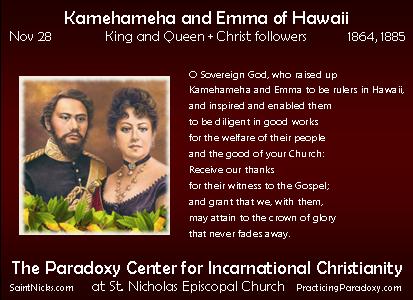 Nov 28 Kamehameha and Emma