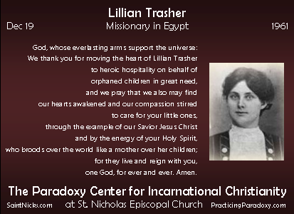 Dec 19 - Lillian Trasher