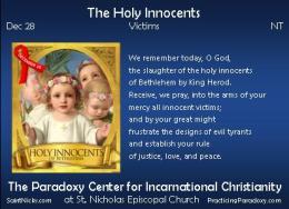 Dec 28 – The HolyInnocents