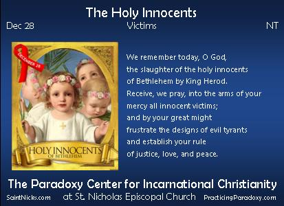 Dec 28 - The Holy Innocents