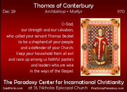 Dec 30 – Thomas of Canterbury