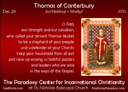 Dec 30 – Thomas ofCanterbury