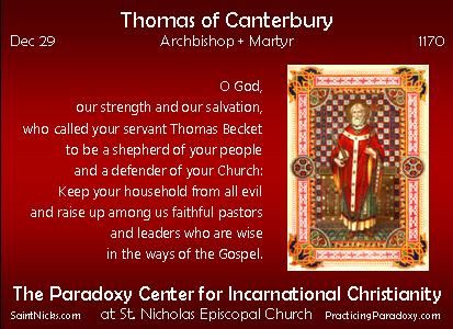 Dec 29 - Thomas of Canterbury