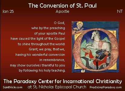 Jan 25 - Conversion of St. Paul