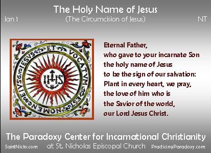 Jan 1 - Holy Name of Jesus