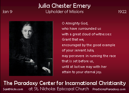 Jan 9 - Julia Chester Emery