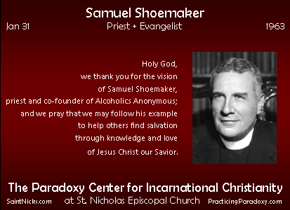Jan 31 - Samuel Shoemaker