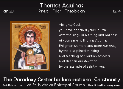 Jan 28 - Thomas Aquinas