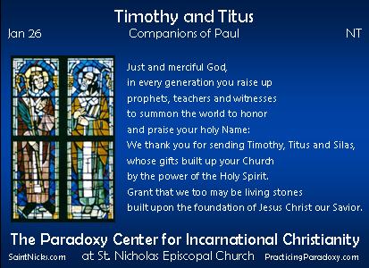 Jan 26 - Timothy + Titus (+ Silas)
