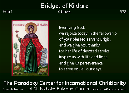 Feb 1 - Bridget of Kildare