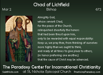 Mar 2 - Chad of Lichfield