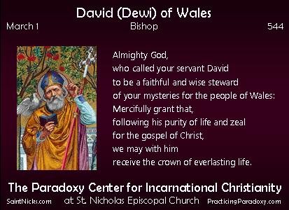 Mar 1 -David of Wales