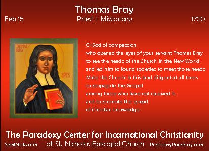 Feb 15 - Thomas Bray