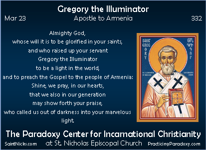 Mar 23 - Gregory the Illuminator